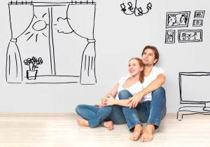 Couple dans un appartement