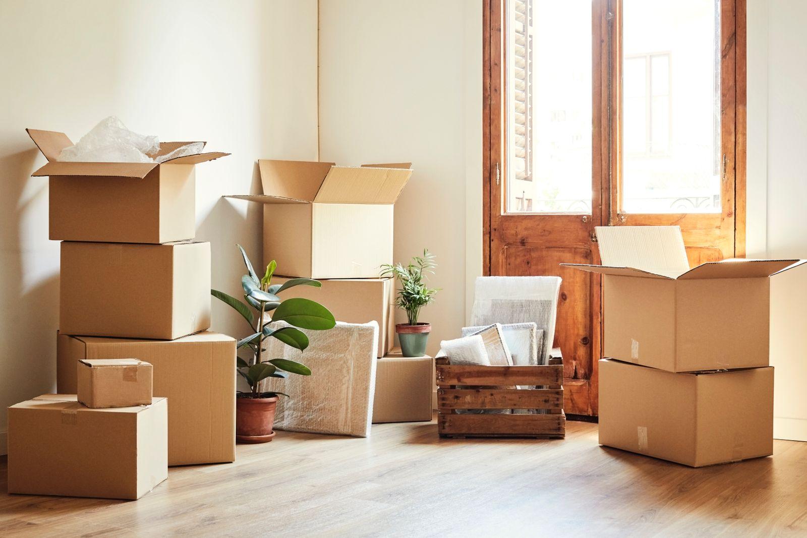 accumuler des boîtes pour un déménagement