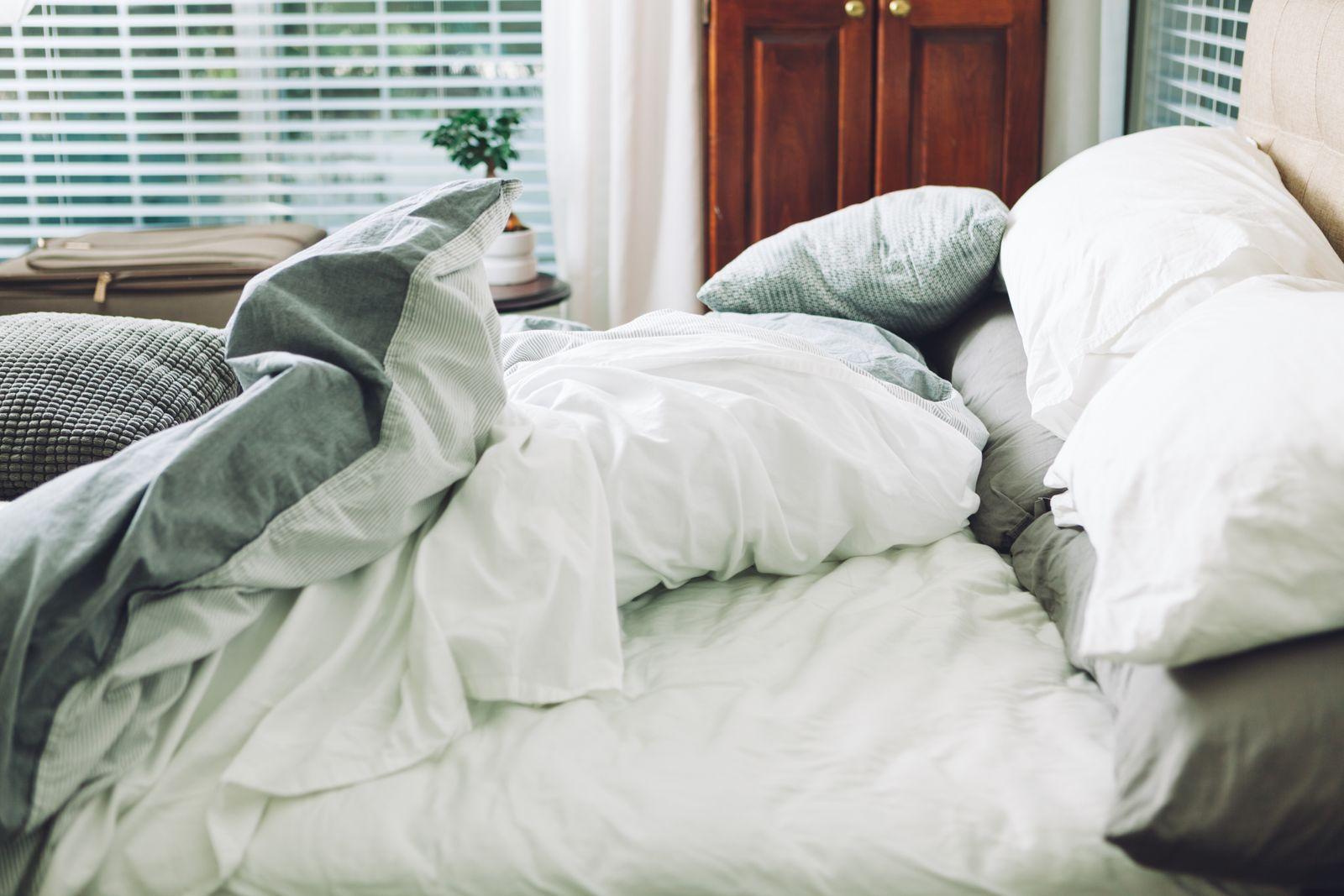 chambre avec un lit douillet