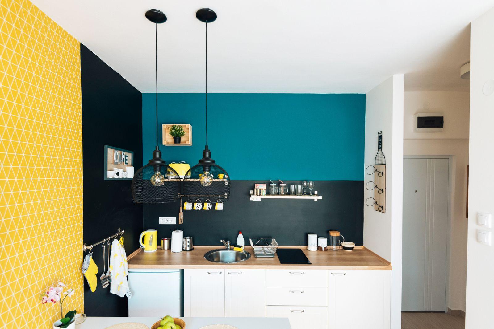 petit espace moderne et colorée